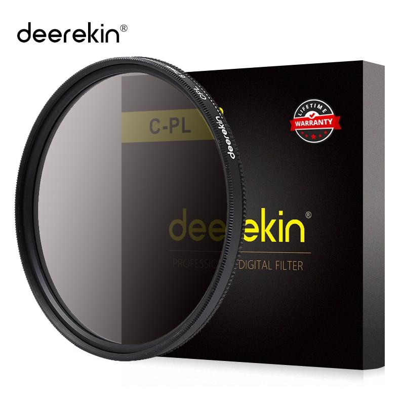 Deerekin 62mm Circular Polarizer Polarizing CPL Filter for Tamron 18-200mm 18-250mm 18-270mm 70-300mm Lens winter larger brimmed fedora jazz hat