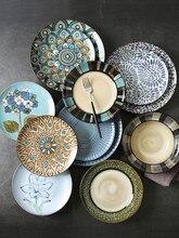 Геометрическая керамическая тарелка 10 дюймов 8 десертов закуски торт Декоративная посуда набор столовых приборов