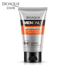 BIOAQUA Man очищающее средство для лица с контролем жирности, очиститель пор, очищающее средство для лица, мужское очищающее средство для лица от акне, черных точек, Отбеливающее увлажняющее средство для ухода за лицом
