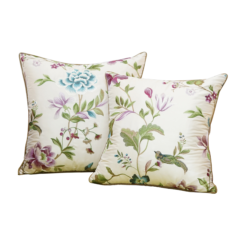 1 Piece New Chinese Style Embroidered Sofa Pillow Cover