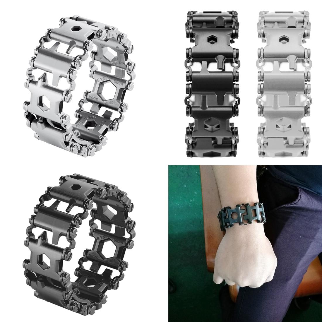 Hot Sale 29 In 1 Multi-function Wearable Tread Bracelet Strap Multi-function Screwdriver Outdoor Emergency Kit Multi Tool
