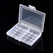 купить Transparent Hard Plastic Case Battery Storage Case Holder Storage Battery Box For 10 x AA or 14 x AAA Battery дешево
