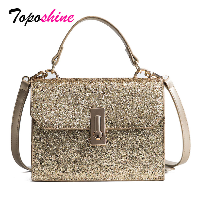 New Korean Version of the Spring Sequins Bag Wild Wild Casual Trend Small Square Bag Fashion Simple Shoulder Messenger Bag clasp shiny crystal shell handbags korean version of the new fashion personality wild casual shoulder messenger bag