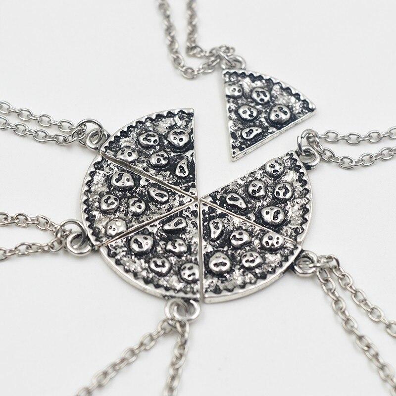 6 шт./компл. ожерелья с подвесками в виде пиццы BFF ожерелье дружбы с лучшими друзьями креативные подарки для мужчин и женщин на день рождения ...