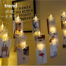 GYLBAB 3meters 20 leds string strip light clamp clip photo album party birthday holiday show(China)
