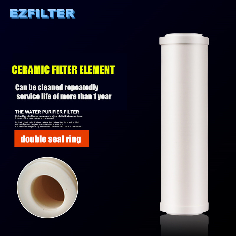 NEW 10 Inch Ceramic Water Filter Can Be Cleaned Repeately Flat Ceramic Filter Cartridge For Water Purification Filter Parts