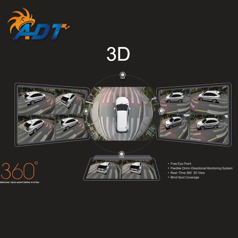 Легко установить 3D HD Автомобильный Surround View мониторинга Системы 360 градусов для вождения Товары для птиц увидеть панорама 4 камеры 4 ch DVR Регис
