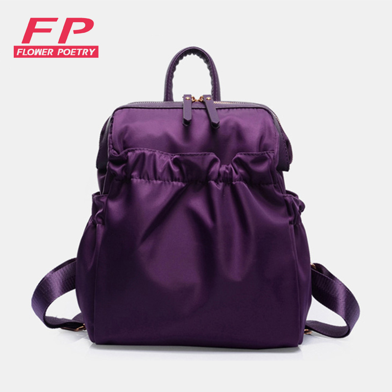 Vintage Casual Style Oxford School Bags High Quality Retro Backpack Women Pleated Famous Designer Brand Backpacks mochilas high quality iron wire frame sun glasses women retro vintage 51mm round sn2180 men women brand designer lunettes oculos de sol
