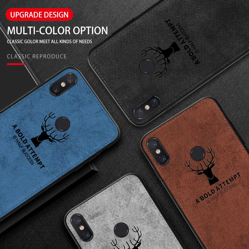 Fabric Cloth For Xiaomi mi 8 6 5 Case Vintage Patterned Fashion Soft Back Cover Case on max 2 3 pocophone F1 popc Luxury shell