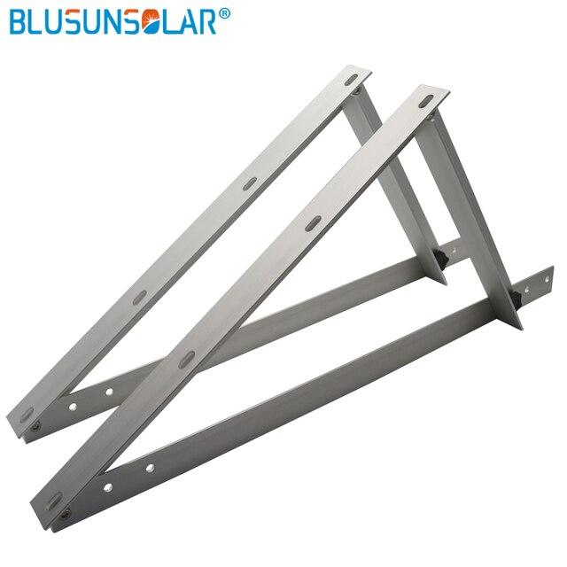 US $144 59 17% OFF|5 set/lot Triangle Bracket Adjustable Solar Panel  Mounting Rack Bracket Set Rack Folding Tilt Legs, Boat, RV, Roof Off Grid  -in