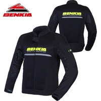 BENKIA Summer Motorcycle Jcaket Men Racing Clothes Spring And Autumn Mesh Breathable Riding Anti Wrestling Clothes