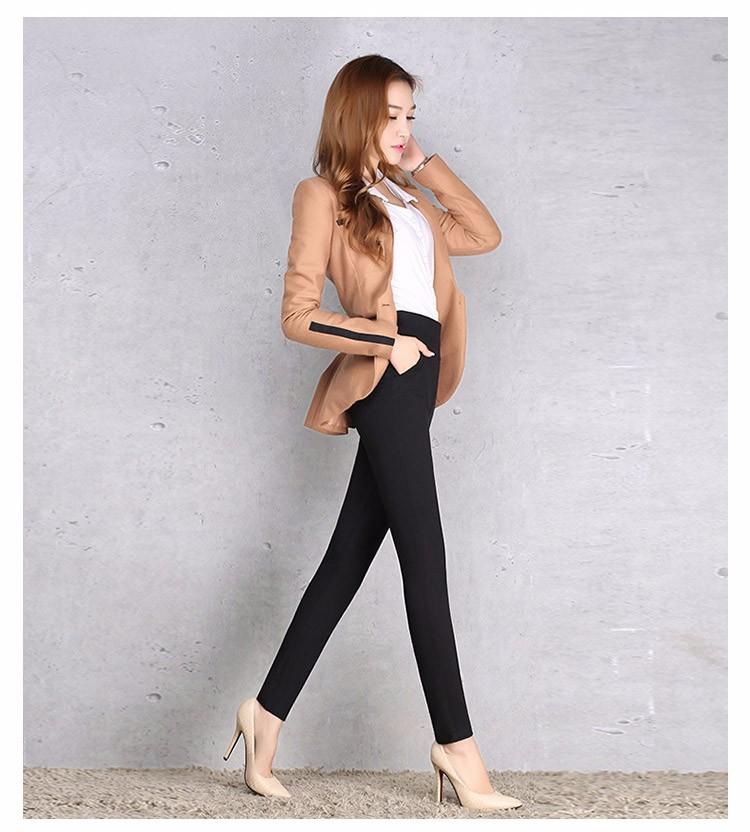 2016 New Autumn Winter Women Casual Stretch Leggings Pencil Sport Pants Skinny Leggings Women\'s Clothing Trousers Plus Size A661 e