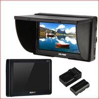 החדש 5 ''TFT LCD שדה DSLR מיקרו HDMI מצלמה צג וידאו סוללה + מטען עבור Canon Nikon Sony A9 A7II A7SII A6500