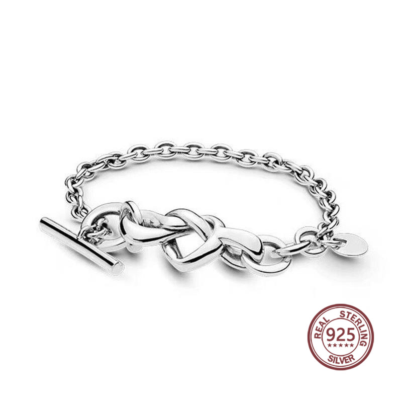 Mind Interwoven Bracelet 2019 New coming 925 silver real material 598100 Personality Classic fit pan charm