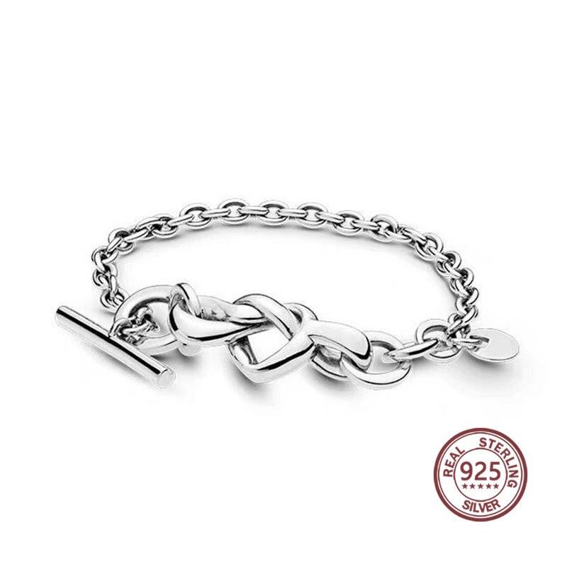 Esprit intertissé Bracelet 2019 nouveau à venir 925 argent réel matériel 598100 personnalité classique fit pandoras bijoux de charme