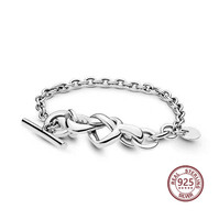 Mind Interwoven Bracelet 2019 New coming 925 silver real material 598100 Personality Classic fit pandoras charm Jewelry