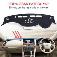Smabee Dash Mat For For NISSAN PATROL Y62 Nismo S Sl Sv Dashmat Black Carpet Car