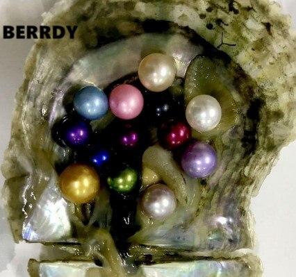 Hurtownie luźne perły okrągłe Pearl 6 7 MM AAAA kolorowe Akoya Pearl koraliki kolorowe Akoya Oyster luźne perły koraliki 30 sztuk/partia w Koraliki od Biżuteria i akcesoria na  Grupa 1
