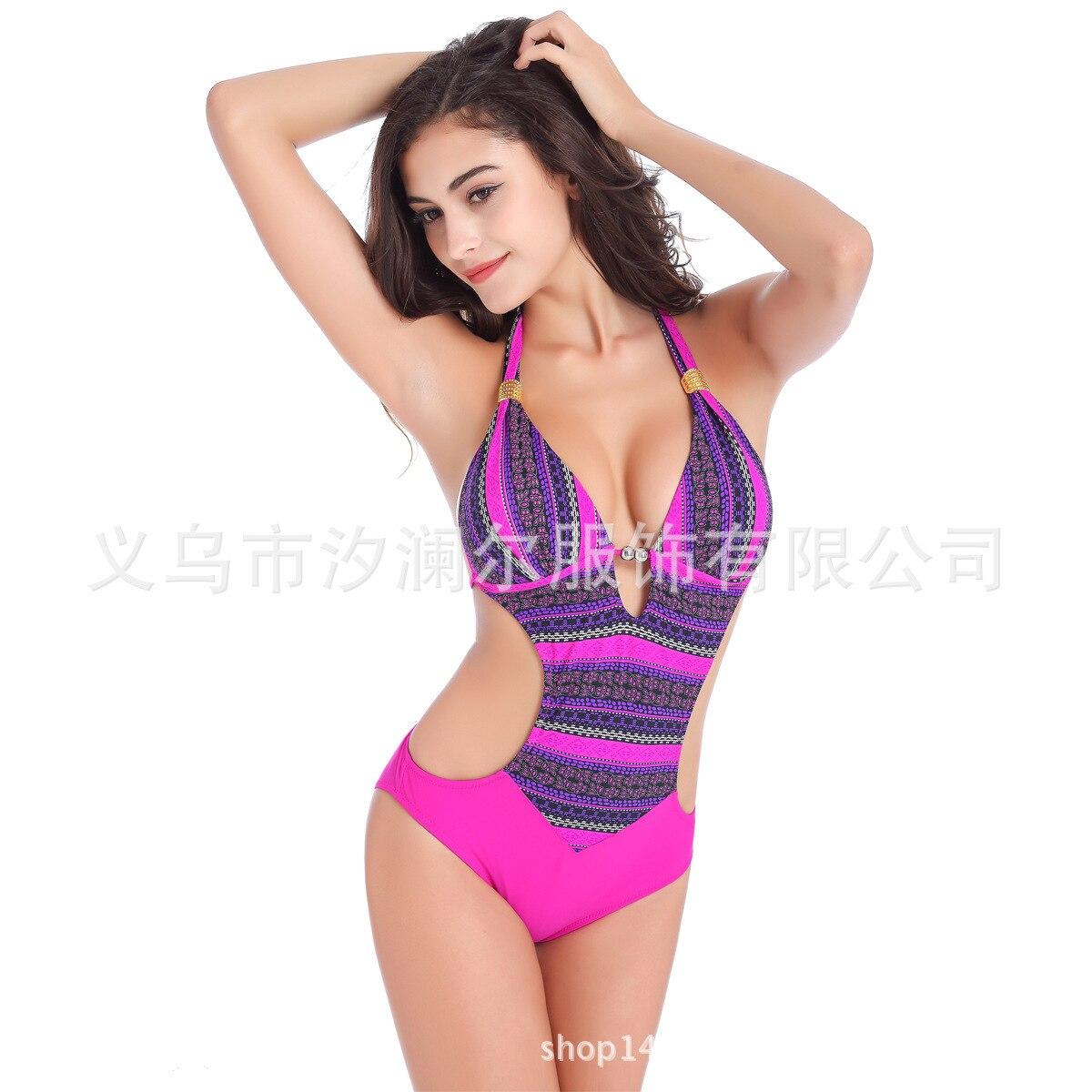 Womens Swim Wear 2018 Summer Sexy One Piece Monokini Swimsuit Bodysuit Backless High Elastic Beach Wear Bathing Suit ...
