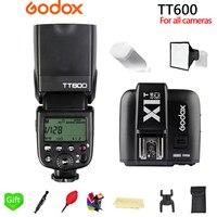 Godox TT600 TT600S 2.4G Wireless 1/8000s Speedlite Flash + X1T C/N/S/O/F 2.4G Wireless TTL Trigger for Canon Nikon Sony Camera