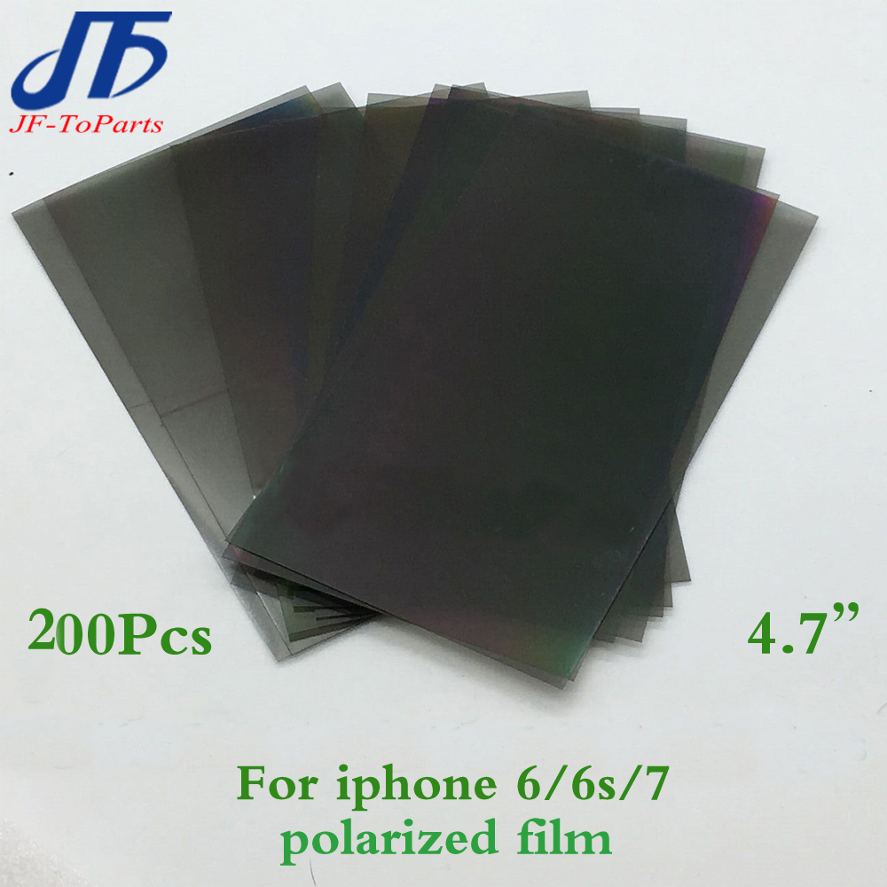 200Pcs New LCD Polarizer Film Polarization replacement for iPhone6 6G 6s 7 4.7 LCD Screen Filter Polaroid Polarized Light Film ...