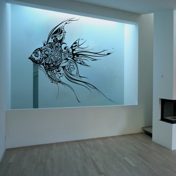 Large Handmade Home Decoration Fish Vinyl Wall Decal Goldfish Wall Sticker  Ocean Wall Art Colorfal Fish Mural Decor 213cm X210cm In Wall Stickers From  Home ... Part 60