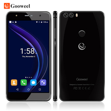 Original gooweel m8 handy mt6580 quad core 5,5 zoll hd ips 2.5d glas smartphone 1 gb + 8 gb fingerprint id 13.0mp handy
