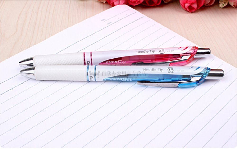 Japan premium eco-friendly quick-drying needle tip 0.5mm gel pen high quality excellent writing Pentel BLN75