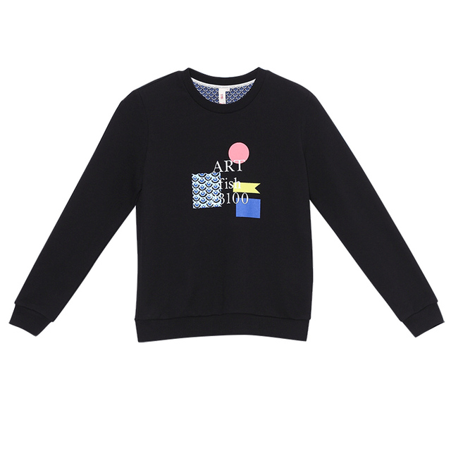 Toyouth Women Basic Sweatshirts 2018 Spring Casual Letter Printed Long Sleeve Female Kawaii Hoodies Pullovers Tops