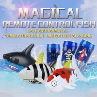 סיטונאי 12 יחידות חידוש פחית קולה RC שליטת רדיו הסימולציה כריש משחק סופר מיני חשמלי מים דגי כריש סירת ילדים צעצוע מתנה