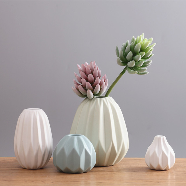 2017 Creative Vase Nordic Modern Living Room Coffee Table Soft Ornament Origami Ornaments FLOWER Inserting Device