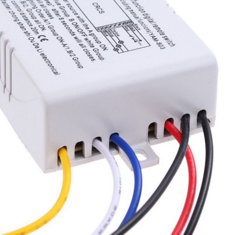 1 2 3 Ways Wireless ON OFF Lamp Remote Control Switch Receiver Transmitter 220 V in Switches from Lights Lighting