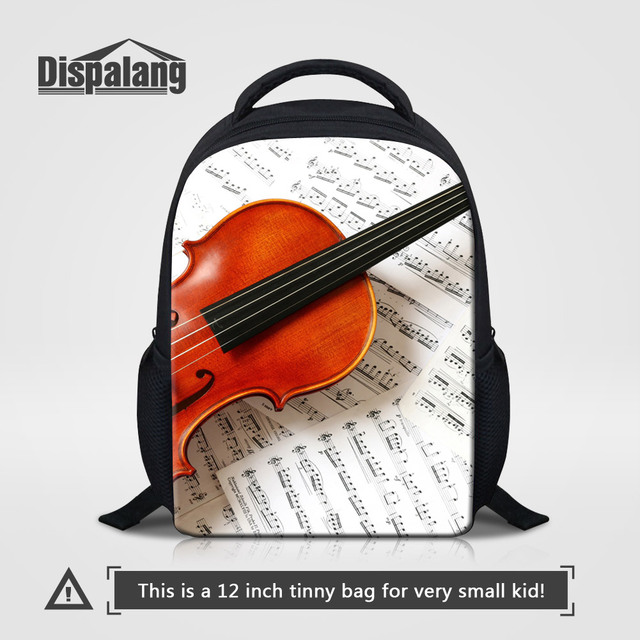 Dispalang 3D Violin Printing School Bags Backpack For Girls Boys Music  Design Kids Bookbags For Preschoolers Child Rucksack Pack eb167706f444b
