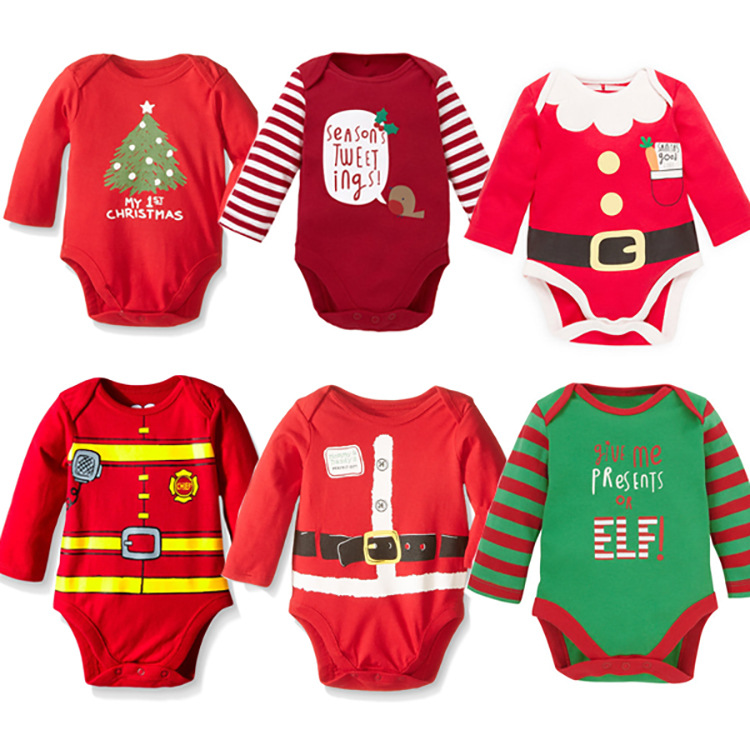 Christmas Costume For <font><b>Baby</b></font> Boy Cartoon Cotton <font><b>Baby</b></font> Bodysuit <font><b>Baby</b></font> Girl <font><b>Body</b></font> Suit <font><b>Baby</b></font> Girl <font><b>Body</b></font> image