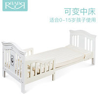 2017 new babyruler high end cribs solid wood European environmental game bed 0 10 year old child bed