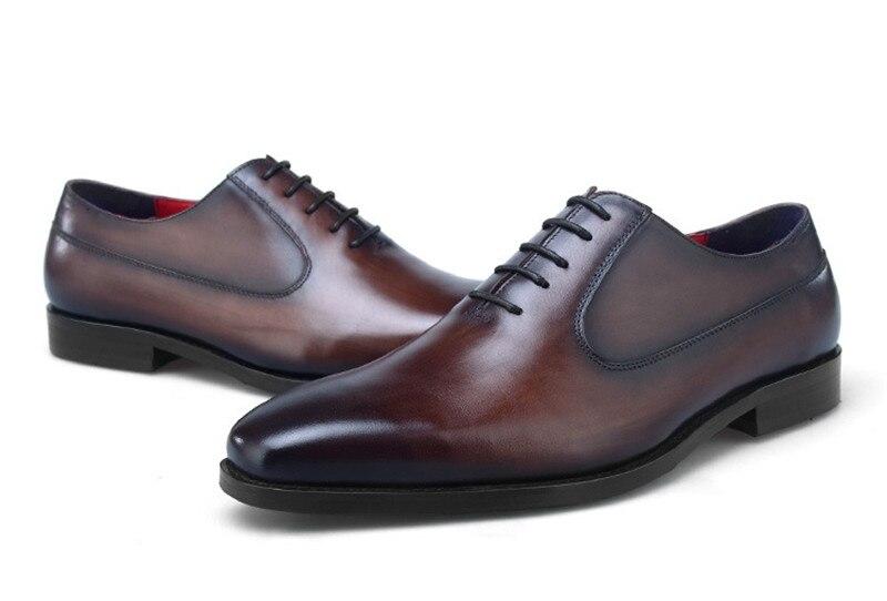 Negócios Marrom Oxfords Casamento Social Venda marrom Tan De Quente Tan preto Sapatas Mens Black Masculinos Couro Genuíno azul Sapatos brown brown blue Vestido YYwqZ5