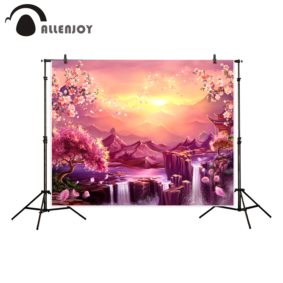 Allenjoy photography backdrop nature ancient japan flower tree sakura blossom background photo studio photocall allenjoy photography backdrop library books student child newborn photo studio photocall background original design