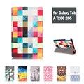 Кожаный Чехол Case Стенд Крышка для Samsung Galaxy Tab A 7.0 T280 T285 Дар Защитная Пленка и Стилус С Новогодний Подарок