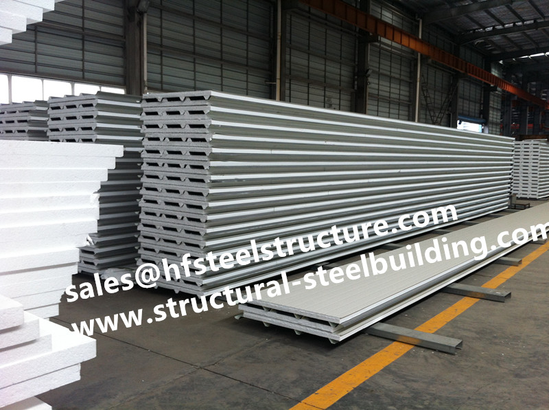 Insulated Metal Wall Roof Panel Systems For Cold Storage And EPS/PU Sandwich Cold Room Panels For Blast Freezer Cold Room