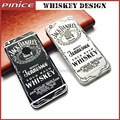 2016 Cool Jack Whiskey Design Housing For iPhone 6 6S 6S Plus Black Silver Color Metal Back Cover Frame Chassis Replacement