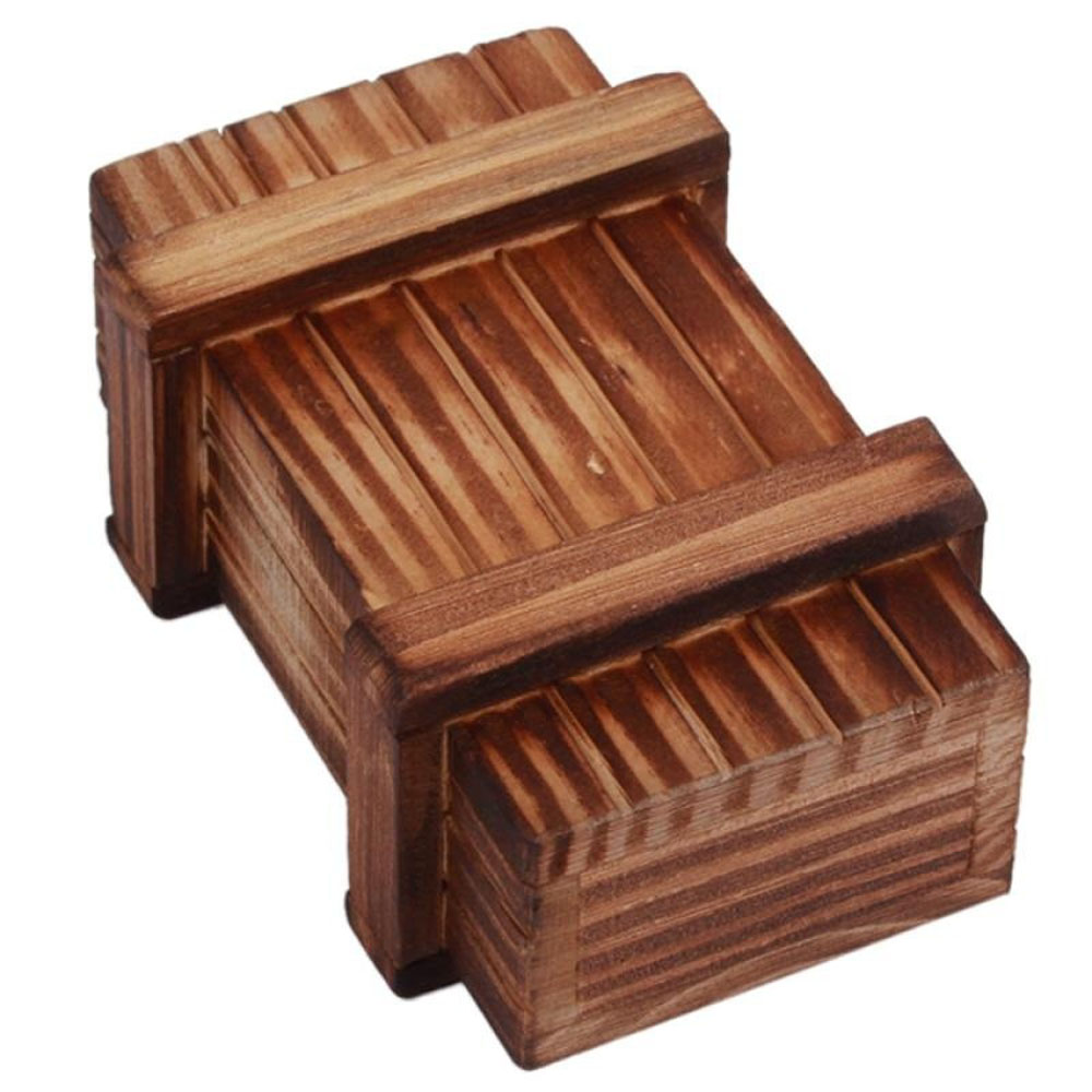 Tricky Brain Box Toy Funny Magic Compartment Wooden Room Escape Prank Toy Props Intelligence Secret Puzzle Wood Bored