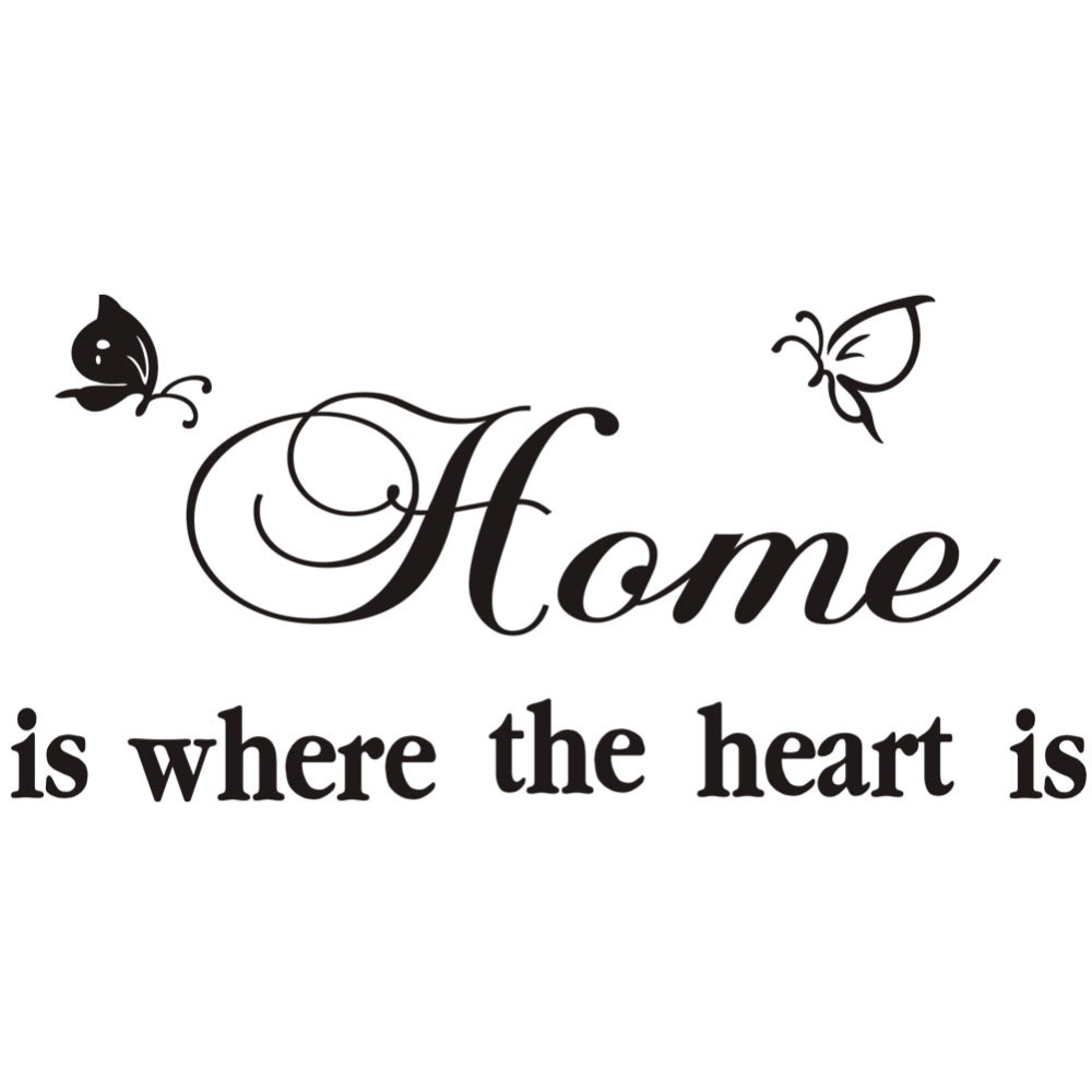 Home Is Where The Heart Is Quote Rainbow Fox Home Is Where The Heart Is Quotes Wall Decal