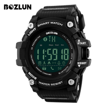 BOZLUN Men Smart Watch Calories Pedometer Remote Camera Sports Watches Big Dial Fashion Digital Wristwatches ST01 IOS Android