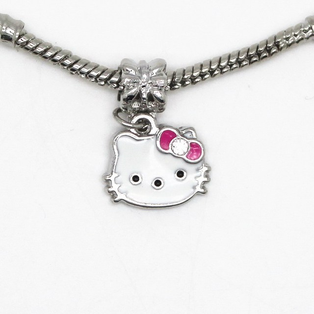 ee2f0030a Silver Plated High Quality Hello Kitty Bead DIY Big Hole European Beads  Fits Silver Charm Pandora Bracelets Necklaces Pendants