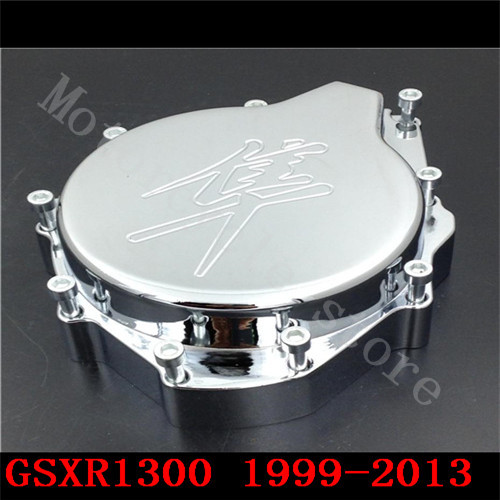 For Suzuli GSXR1300 GSX-R 1300 Hayabusa GSX1300R 1999-2010 2011 2012 2013 2014 2015 Motorcycle Engine Stator cover left side aftermarket free shipping motorcycle parts engine stator cover for suzuki hayabusa gsx 1300r 1999 2015 left side chrome
