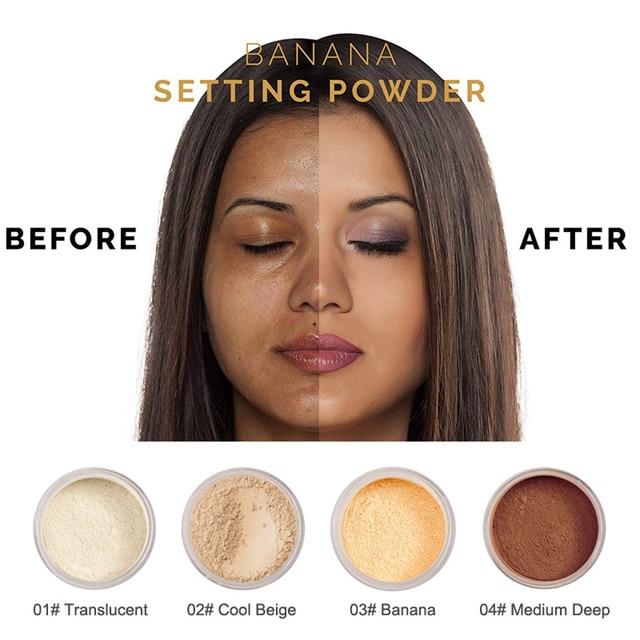 Polvo de polvo holgado PHOERA polvo de cara suelta translúcido ajuste suave maquillaje de base de control de aceite duradero