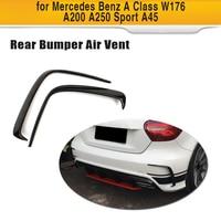 Para una clase A45 AMG fibra de carbono coche parachoques trasero embellecedor de rejilla de ventilación Dam Fender Canards para mercedes-benz W176 A180 A200 A250 Sport