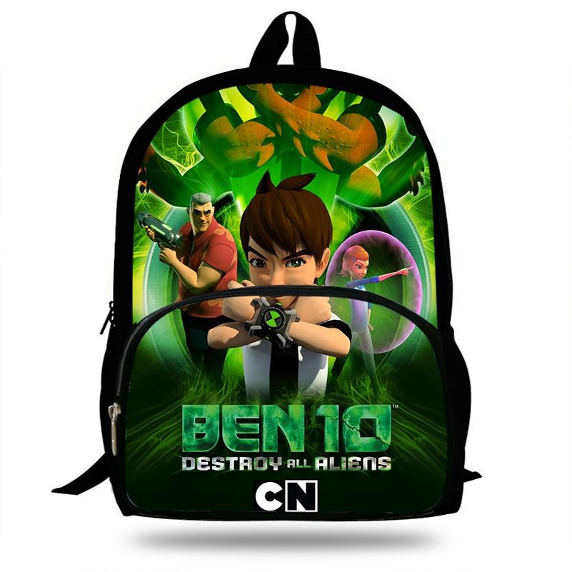 2018 Newest Mochila School Backpack Cartoon Ben 10 Printing Children School  Bags Boys Teenage Girls Ben10 Casual Backpacks-in School Bags from Luggage  ...