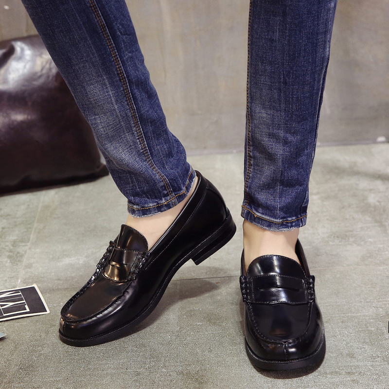 Man Youth Student Shoes College Students Shoes Uniform Shoes PU Leather Loafer Shoes Size 39-48