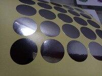 gold and silver sticker label make sample